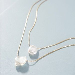 ANTHROPOLOGIE Layered Pearl Necklace